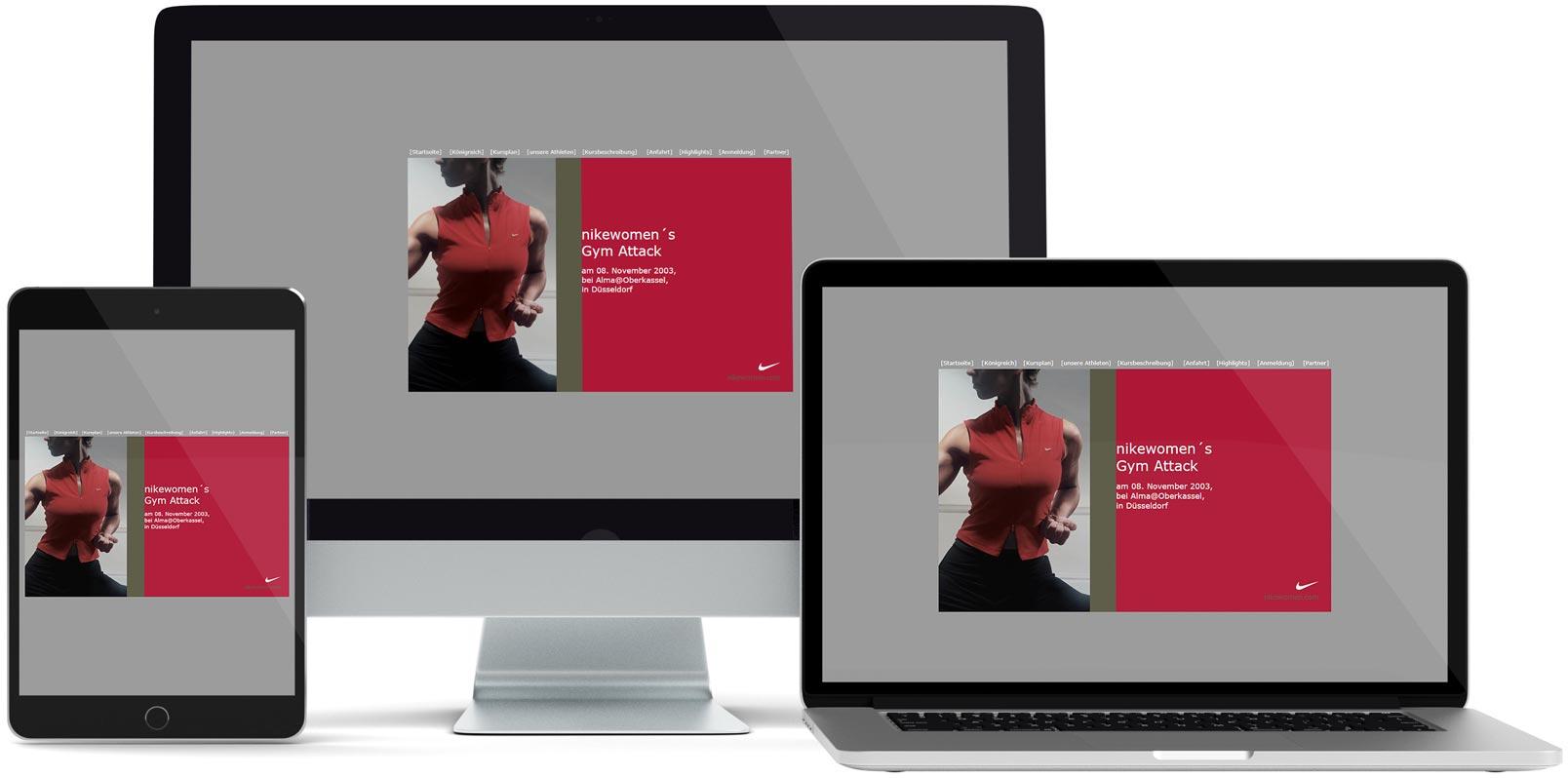 Dreamweaver Webdesign: nikewomen's Gym Attack
