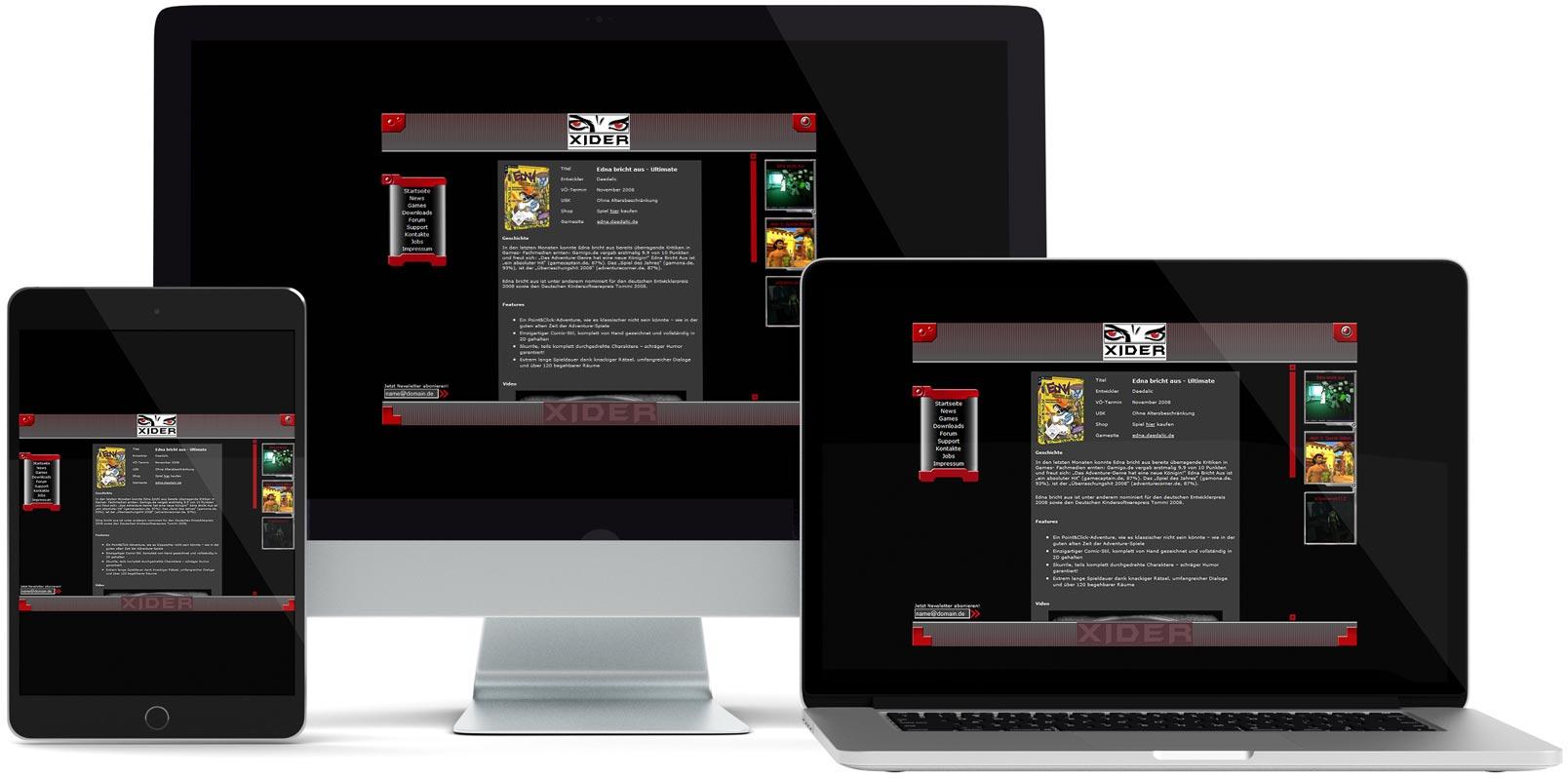 Dreamweaver Webdesign: XIDER
