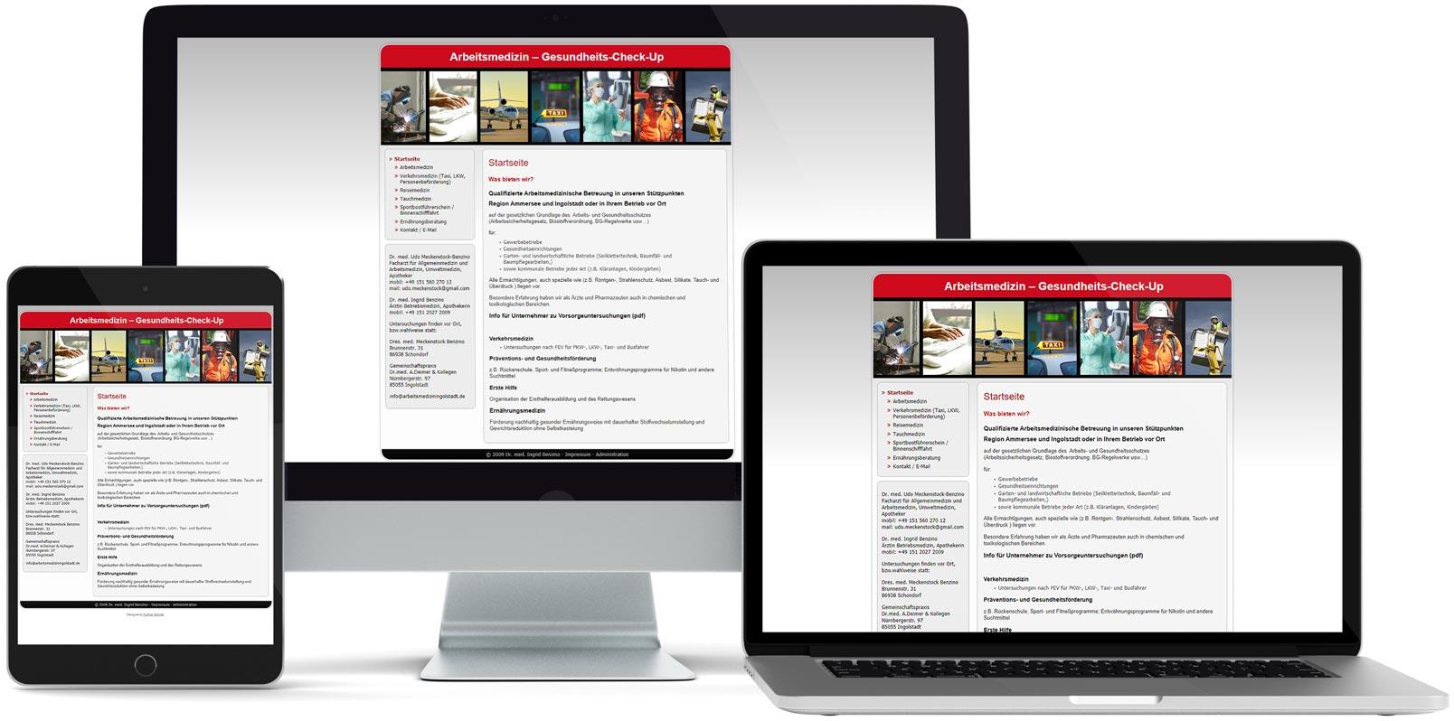 WordPress Webdesign: Arbeitsmedizin Ingolstadt