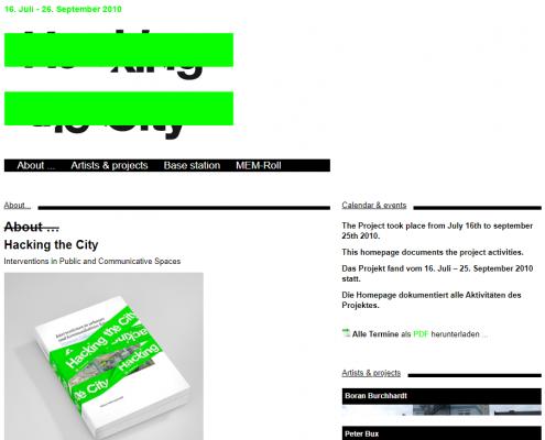 Hacking the city - Museum Folkwang - WordPress Webdesign Düsseldorf