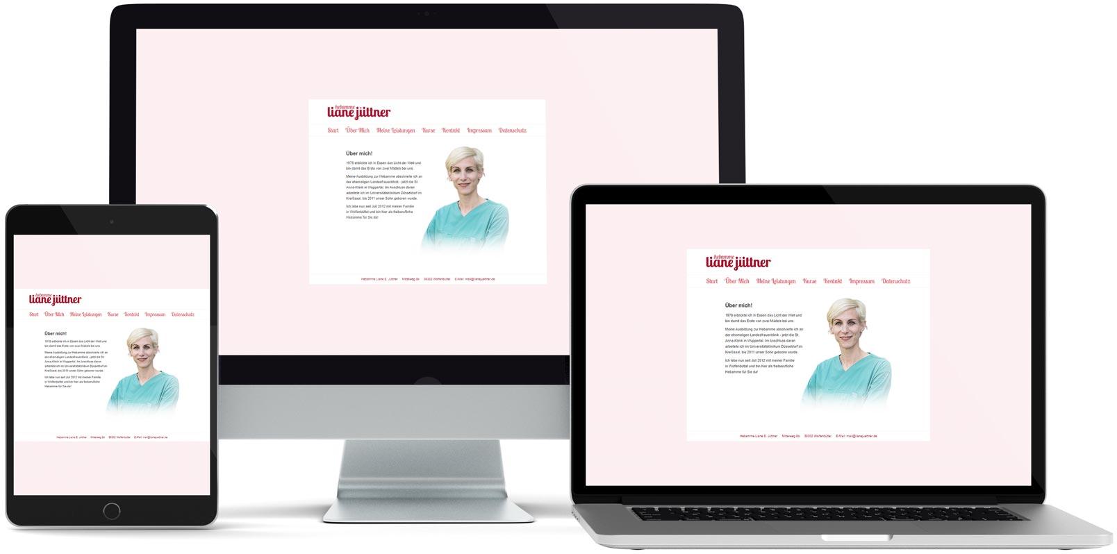 Dreamweaver Webdesign: Liane Jüttner