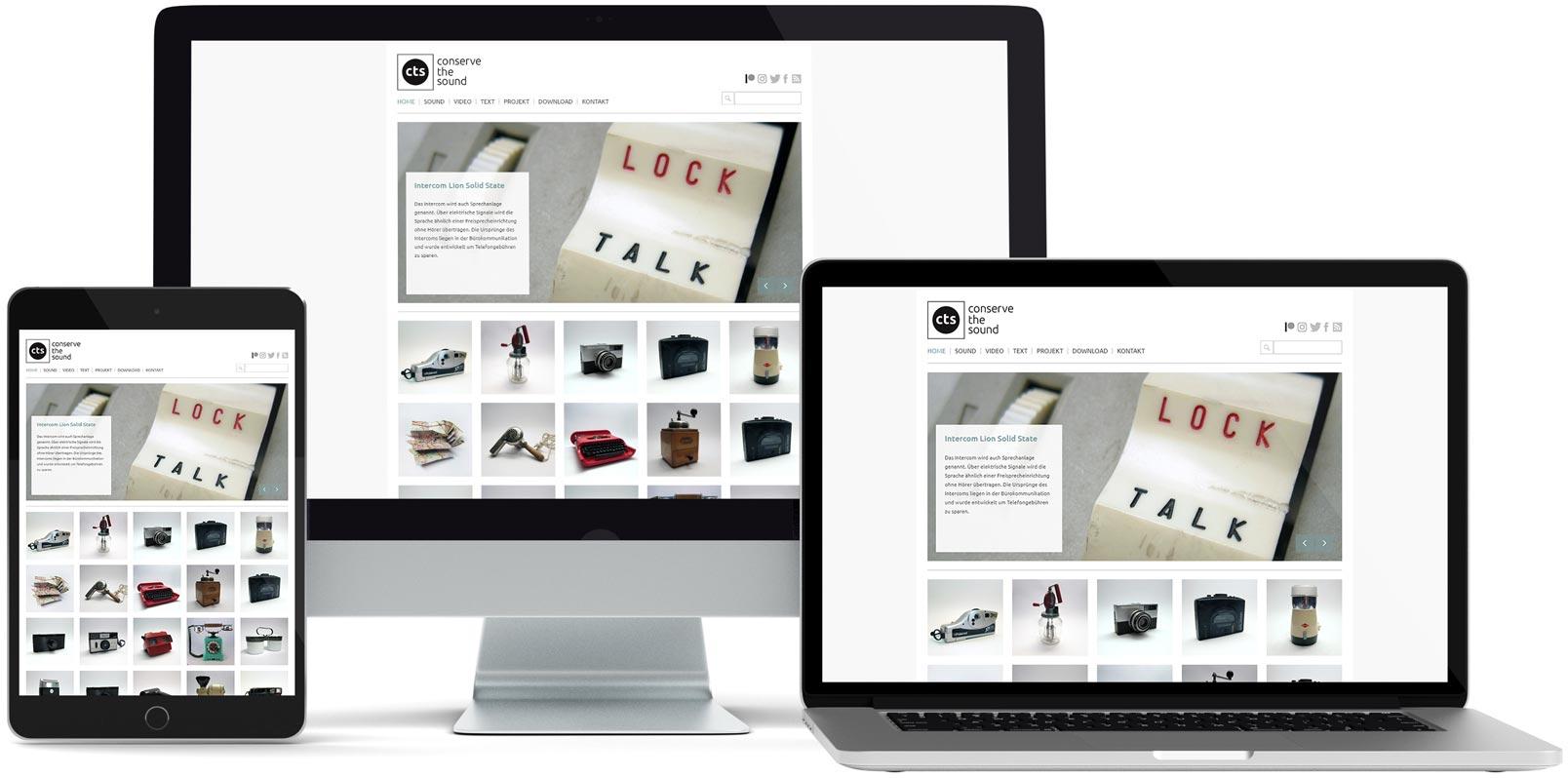 WordPress Webdesign: CTS – conserve the sound