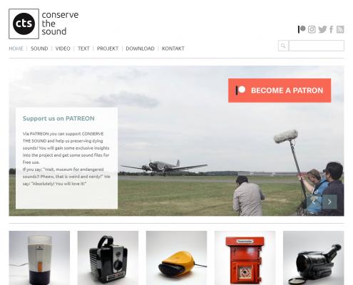CTS - Conserve the sound - WordPress Webdesign Düsseldorf