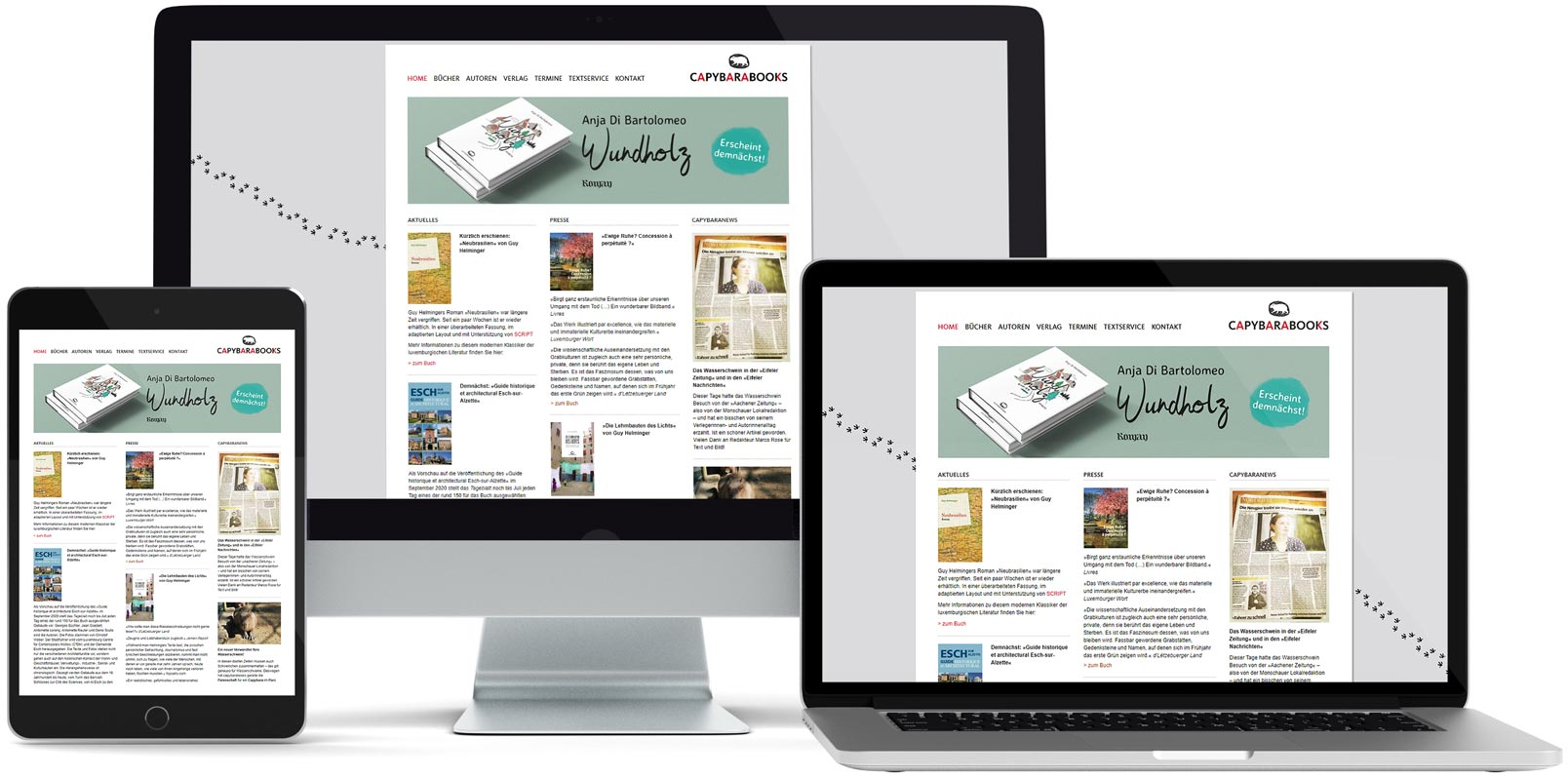 WordPress Webdesign: Capybara Books