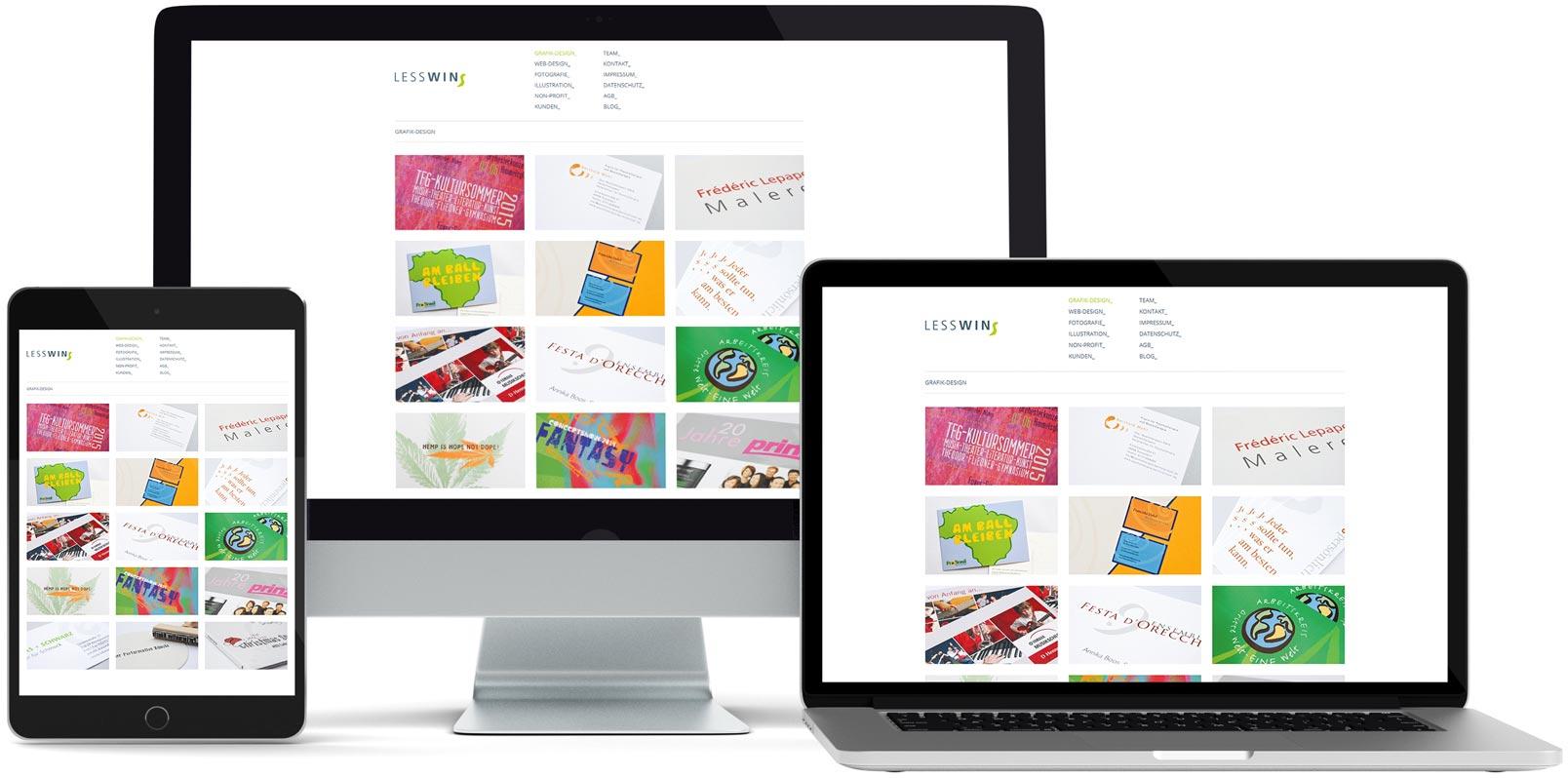 WordPress Webdesign: Lesswins