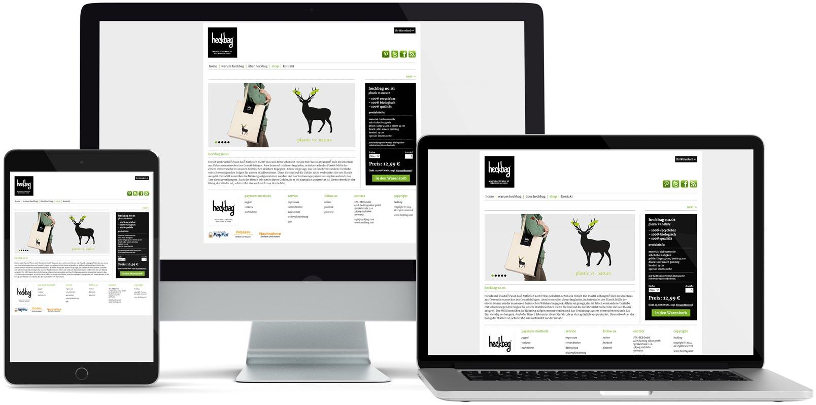 WordPress Webdesign: Heckbag