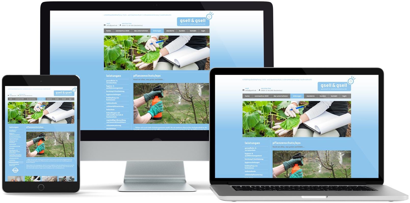 WordPress Webdesign: Gsell & Gsell GmbH