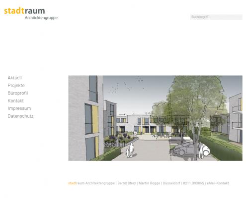 Stadtraum Architekten - WordPress Webdesign Düsseldorf