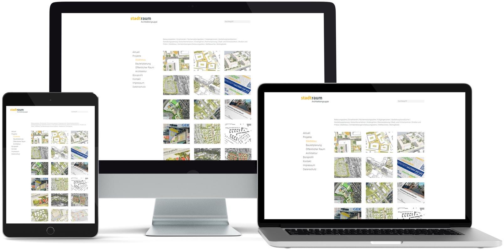 WordPress Webdesign: Stadtraum Architekten
