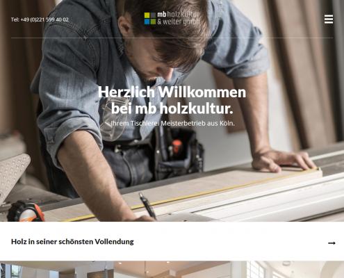 MB Holzkultur - WordPress Webdesign Düsseldorf