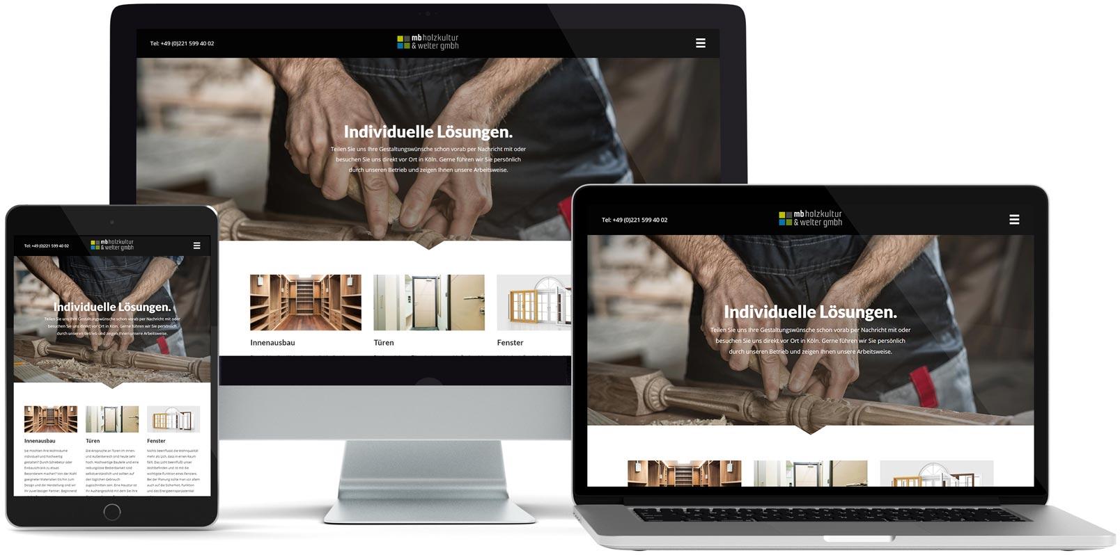 WordPress Webdesign: mb holzkultur
