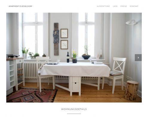 Apartment Düsseldorf - WordPress Webdesign Düsseldorf