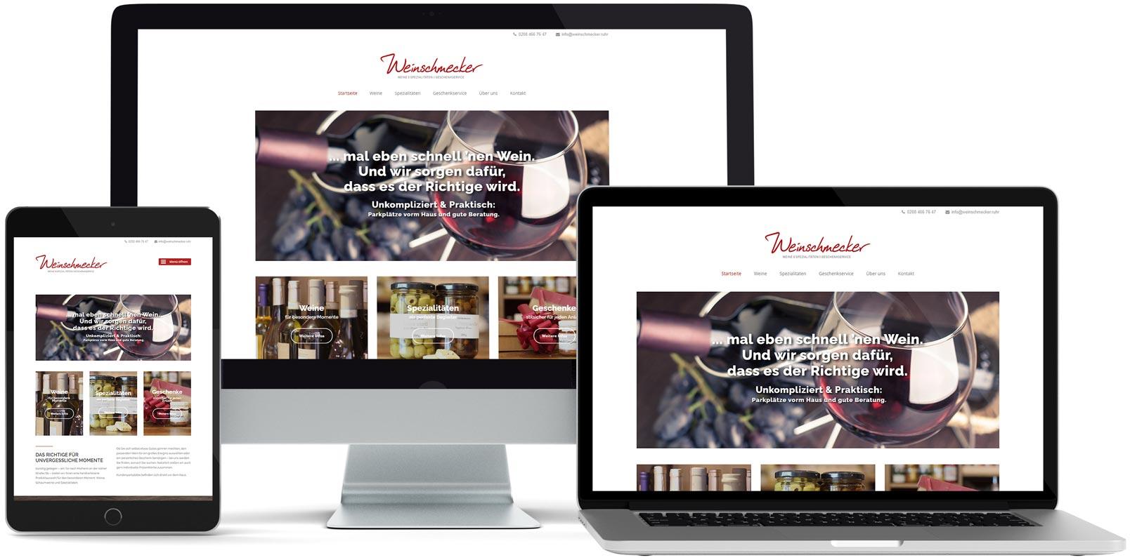 WordPress Webdesign: Weinschmecker
