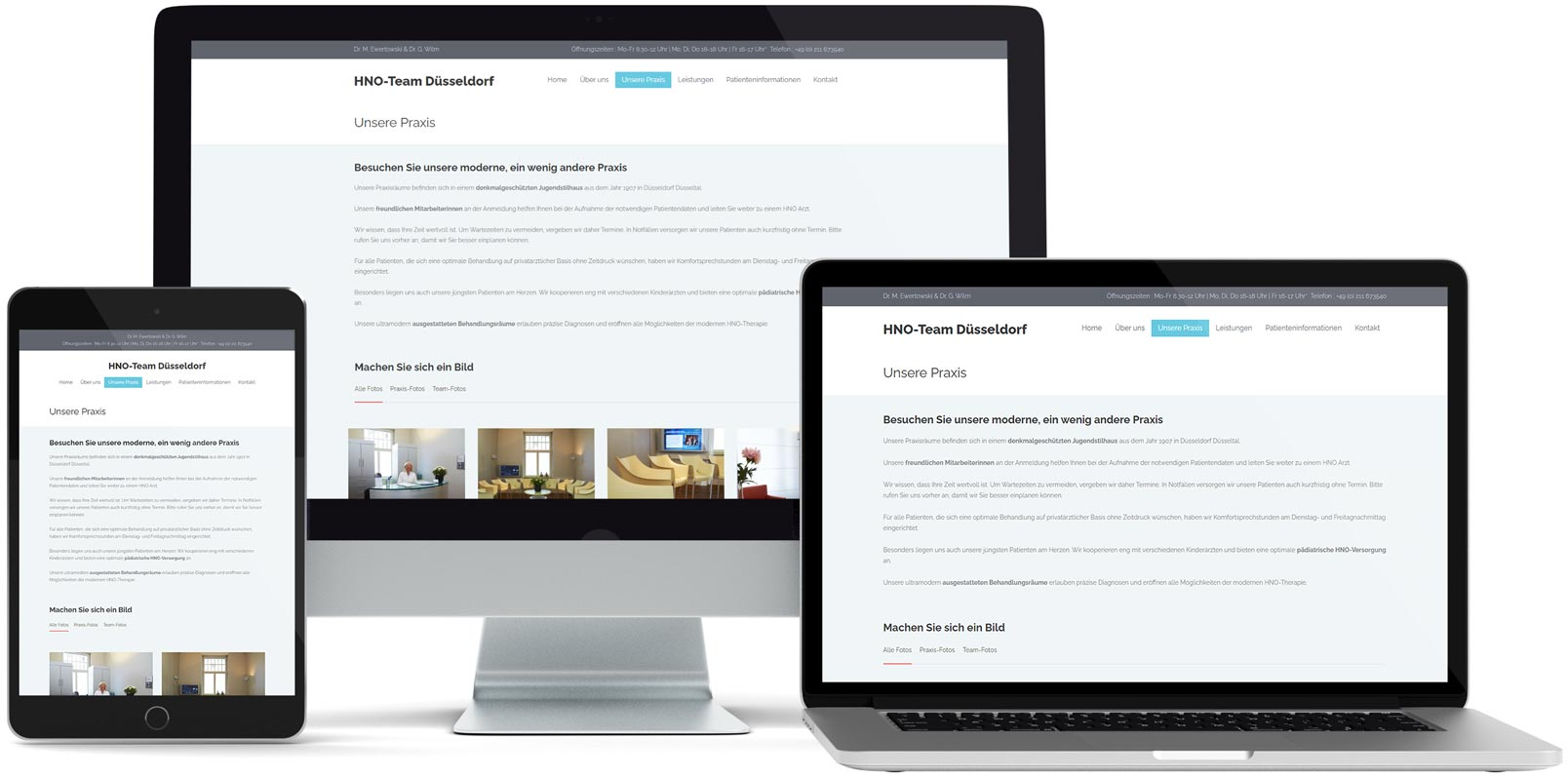 WordPress Webdesign: HNO-Team Düsseldorf