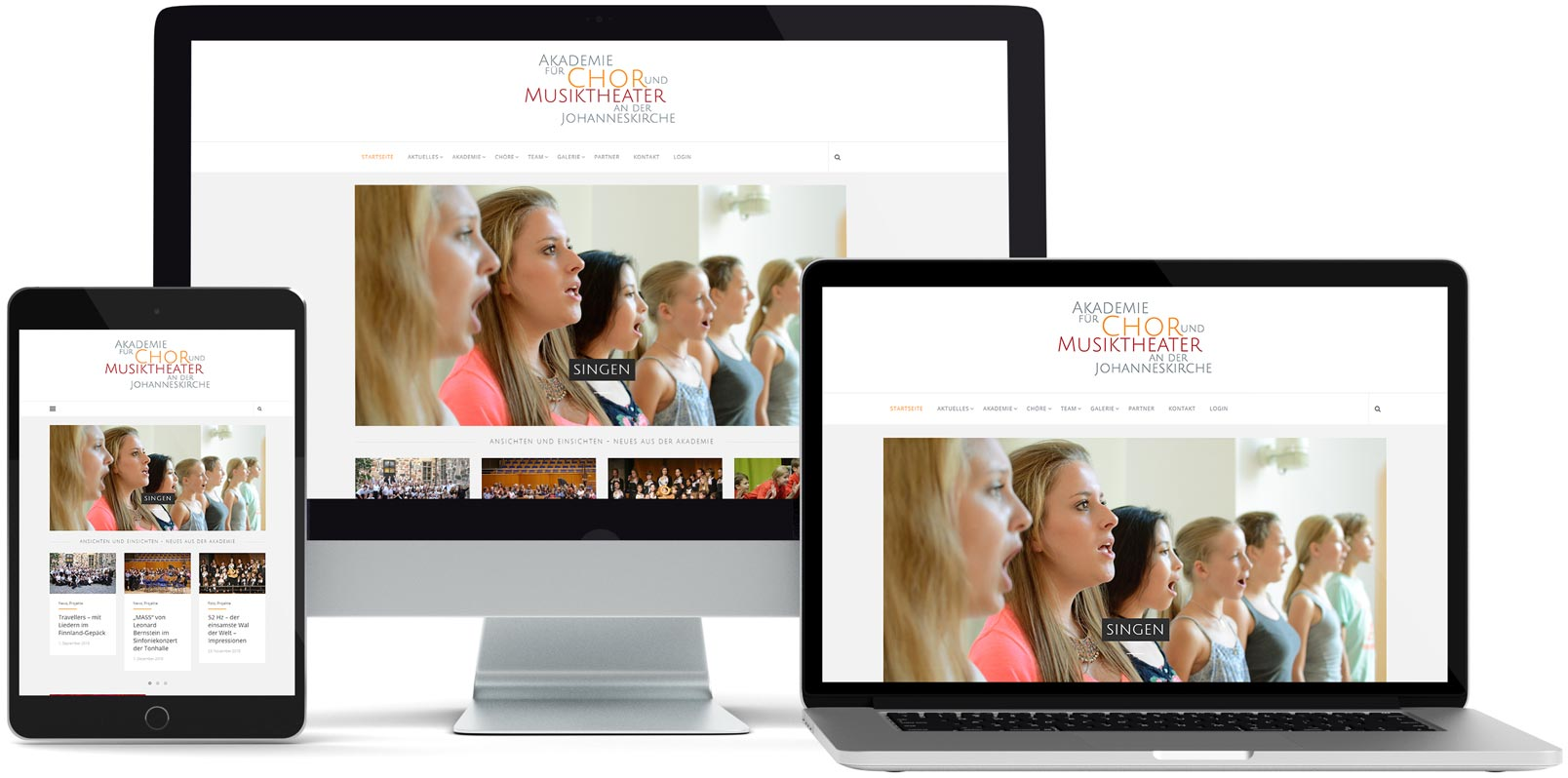WordPress Webdesign: Akademie für Chor und Musiktheater