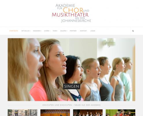 Akademie für Chor und Musiktheater - WordPress Webdesign Düsseldorf