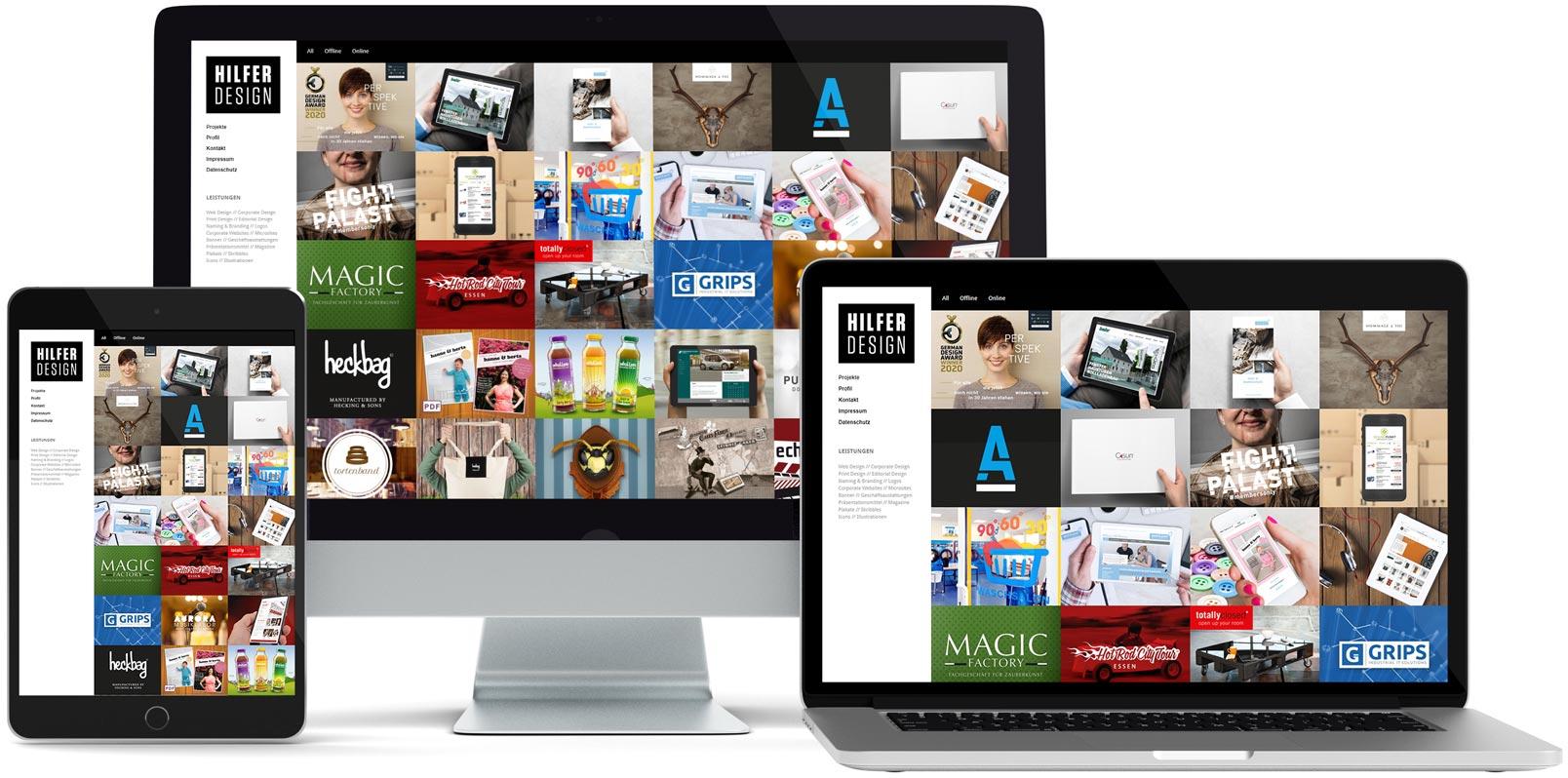 WordPress Webdesign: Hilfer Design
