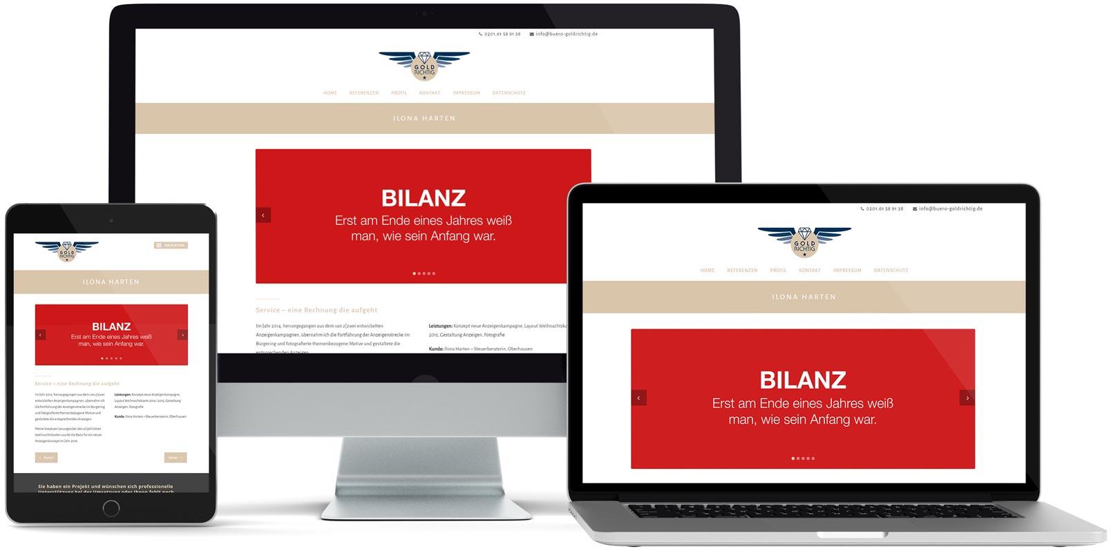 WordPress Webdesign: Goldrichtig