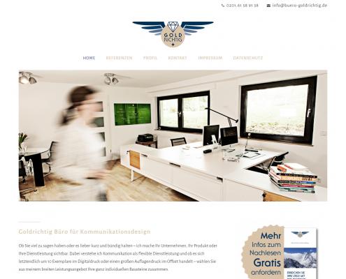 Büro Goldrichtig - WordPress Webdesign Düsseldorf