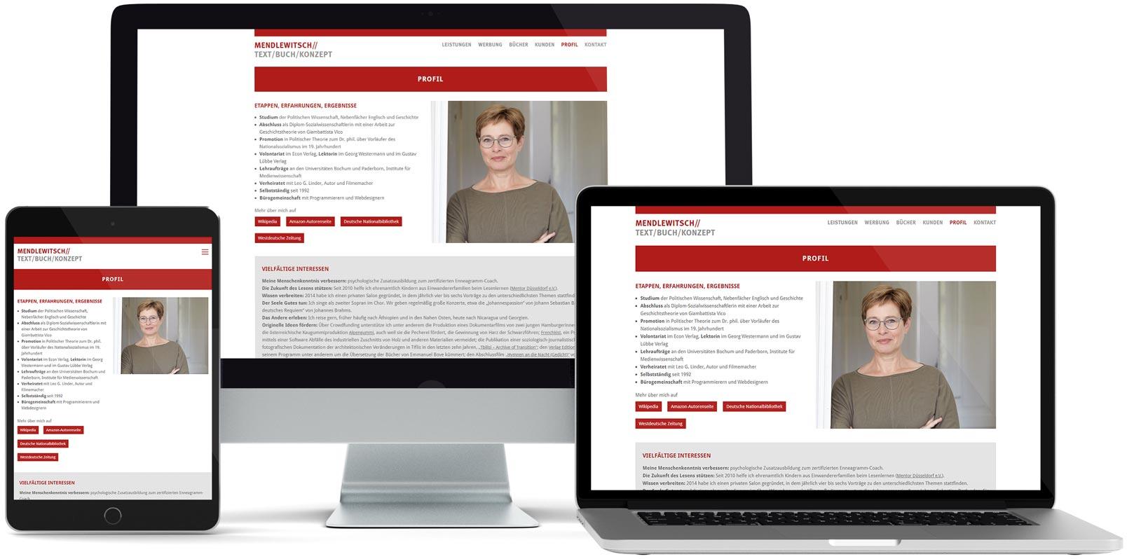 WordPress Webdesign: Doris Mendlewitsch