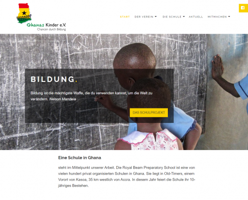 Ghanas Kinder - WordPress Webdesign Düsseldorf