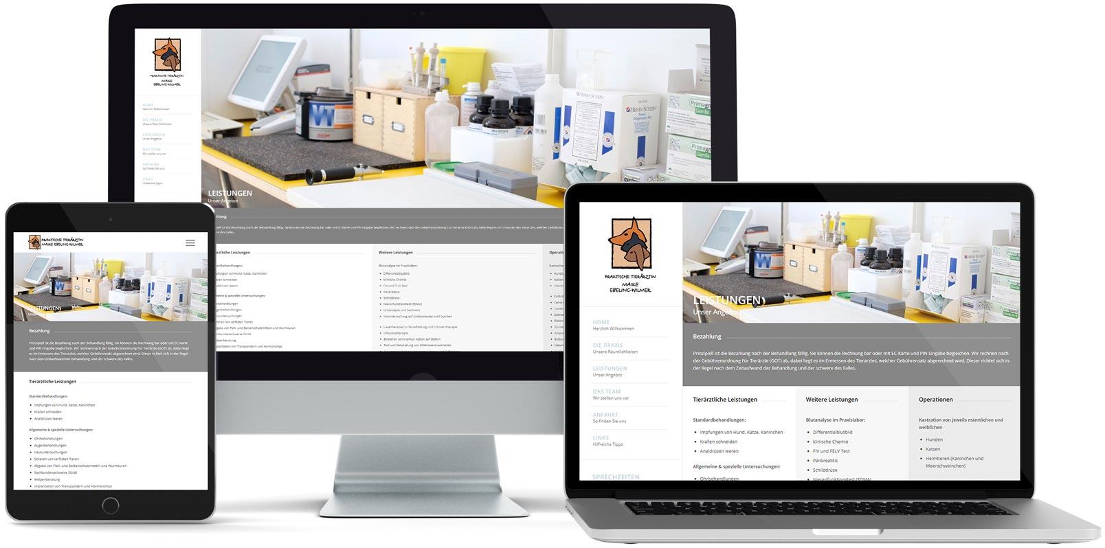 WordPress Webdesign: Maike Ebeling-Wilmer