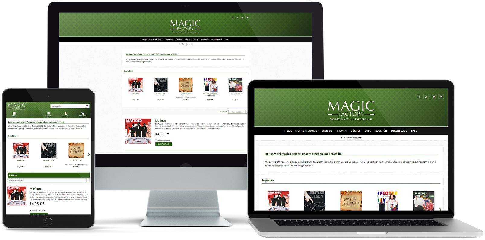 Shopware Webdesign: Magic Factory