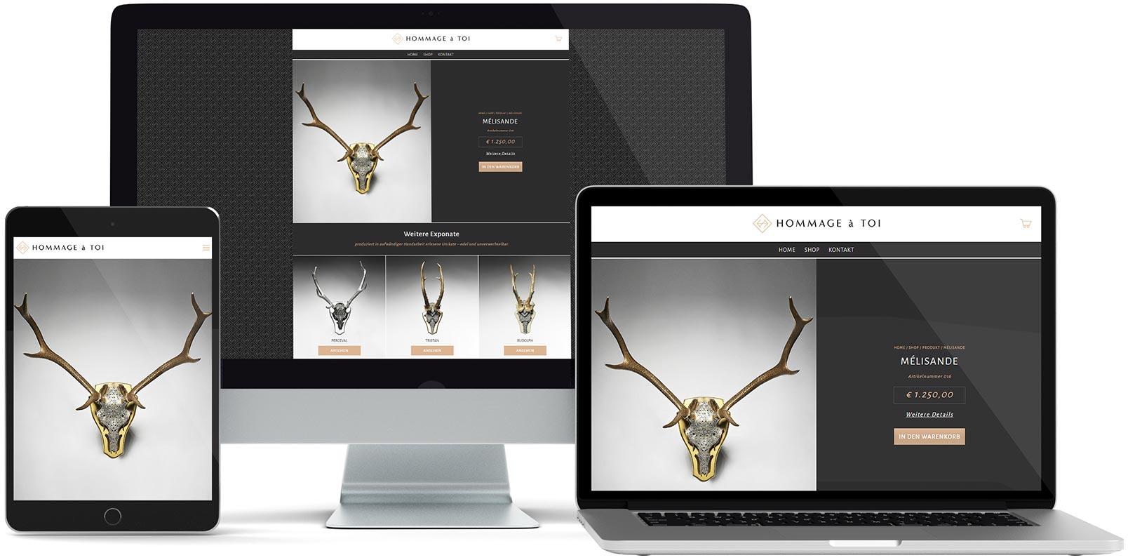 WordPress Webdesign: Hommage á toi