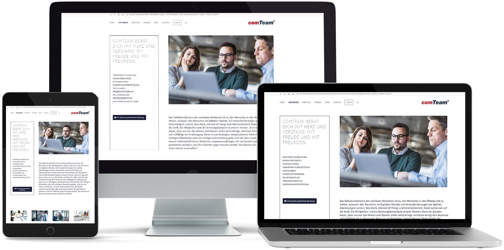 WordPress Webdesign: ComTeam
