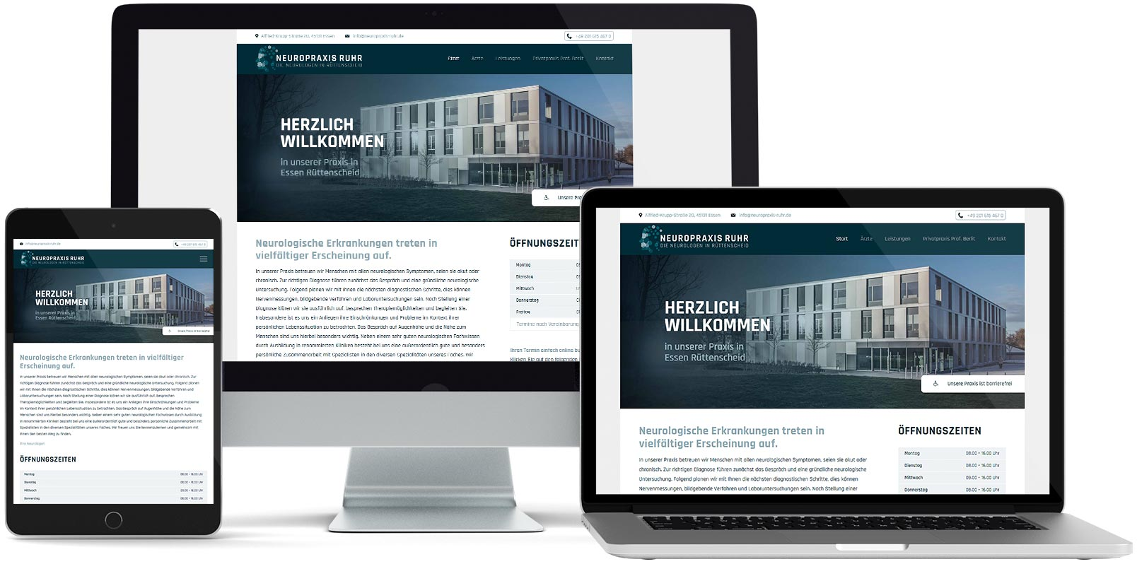 WordPress Webdesign: Neuropraxis Ruhr