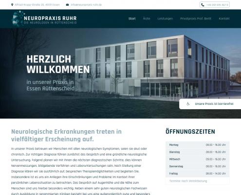 WordPress Webdesign: Neuropraxis Ruhr